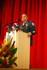 Ross giving his remarks and elaborating on his plans as police commissioner. Photo Credit: Albert Tanjaya (275)