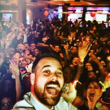 The DJ takes a selfie with all 276. Photo courtesy of Lucky Strike's Facebook page.