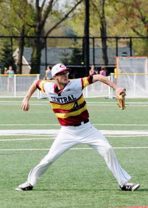 Justin Kochmer (275) winding up for a throw. Photo Credit: Gentian Alimadhi