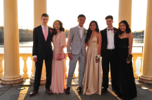 From left to right: Isaac Spear, Tiffany Tran, Philip Nguyen, Eryn Nguyen, Eamon McCoubrey, Seng Dingrin.
