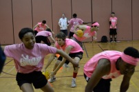 Players engaged in an intensive game of dodgeball. Photo Credit: Ella Comberg (275)