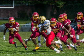 The football team in action. PC: Jesse Garber