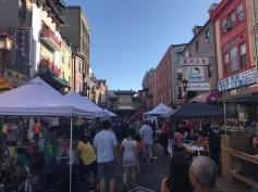 The festival drew crowds to 10th Street.