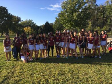 The Girls' Tennis team enjoys a successful season. PC: William Graham
