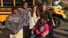 Widener buddies escort students from Widener Memorial School to Central. PC: Nicole Umeweni (277)