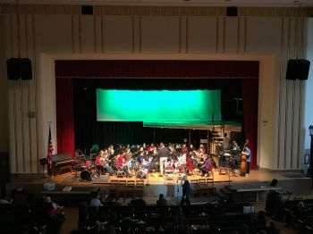 Central's concert band prepares to perform for the music department from Cleveland Heights High School. PC: Jana Pugsley (277)