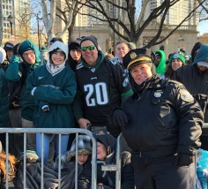 Fans congregated along the parade route from the early hours of the morning to catch a glimpse of the Superbowl champions. PC: Annalisa Quinn (279)